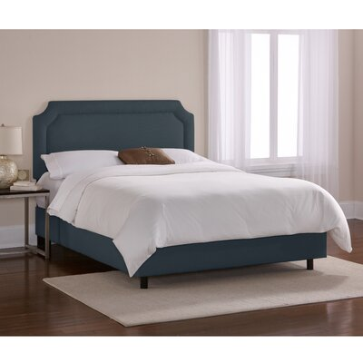 Chambers Upholstered Panel Bed Size: Queen, Color: Navy