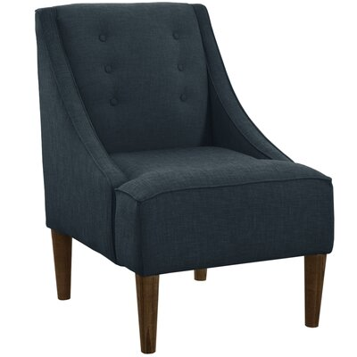 Taos Button Swoop Slipper Chair Upholstery: Klein Midnight