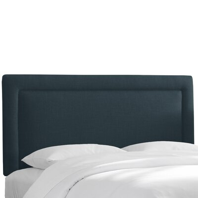 Chambers Upholstered Panel Headboard Size: Twin, Upholstery: Navy