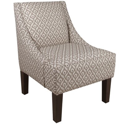 Goldhorn Armchair Upholstery: Clover Steel Macon, Nailhead Detail: No Trim