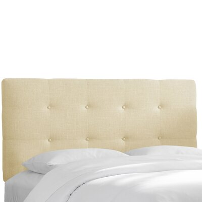 Chambers Upholstered Panel Headboard Size: Twin, Upholstery: Chalk