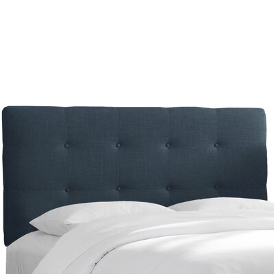Chambers Upholstered Panel Headboard Size: Queen, Upholstery: Navy