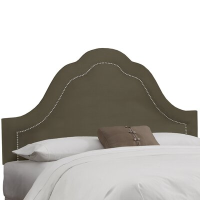 Upholstered Panel Headboard Upholstery: Pewter, Size: Queen