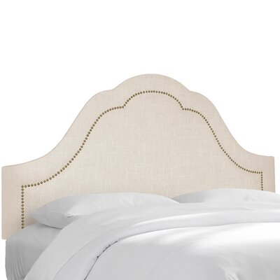 Linen Upholstered Panel Headboard Upholstery: Talc, Size: Queen