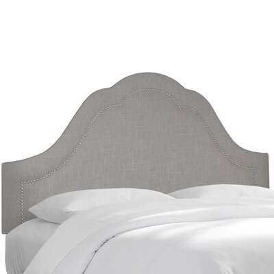 Linen Upholstered Panel Headboard Upholstery: Grey, Size: Queen