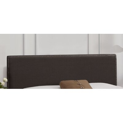 Nail Button Linen Upholstered Panel Headboard Upholstery: Charcoal, Size: Queen