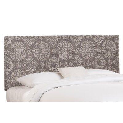 Nail Button Linen Upholstered Panel Headboard Size: Queen, Upholstery: Jakarta Dune