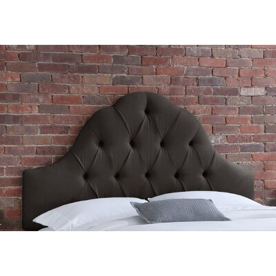 Tufted Upholstered Panel Headboard Size: Queen, Upholstery: Charcoal