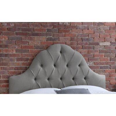 Tufted Upholstered Panel Headboard Size: Full, Upholstery: Grey