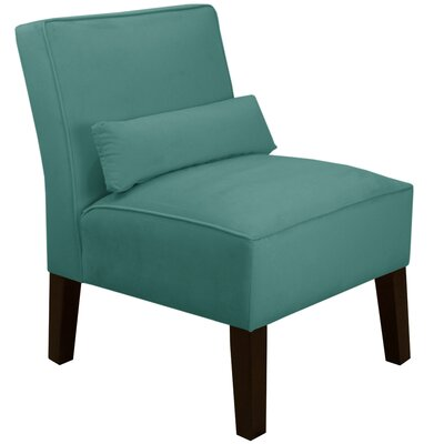 Thurston Slipper Chair Upholstery: Velvet Caribbean