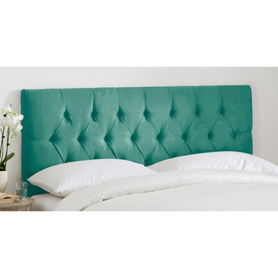 Tufted Regal Upholstered Panel Headboard Size: Twin, Color: Laguna