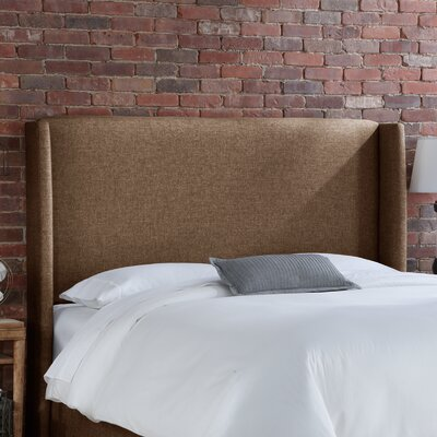 Wingback Upholstered Headboard Size: King, Upholstery: Groupie Praline