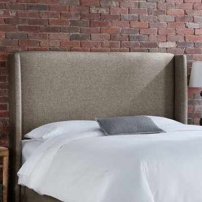Wingback Upholstered Headboard Size: Full, Upholstery: Groupie Gunmetal