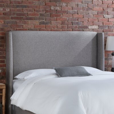 Wingback Upholstered Headboard Size: Full, Upholstery: Groupie Pewter