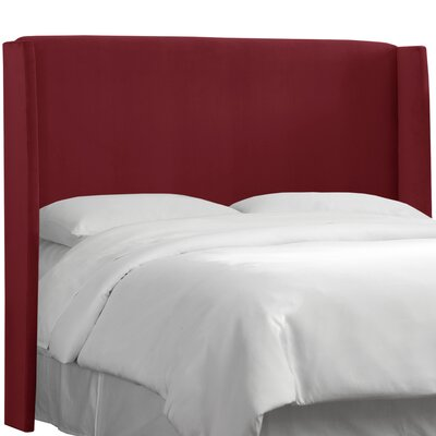 Wingback Upholstered Headboard Size: California King, Color: Berry