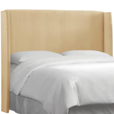 Wingback Upholstered Headboard Size: King, Color: Buckwheat