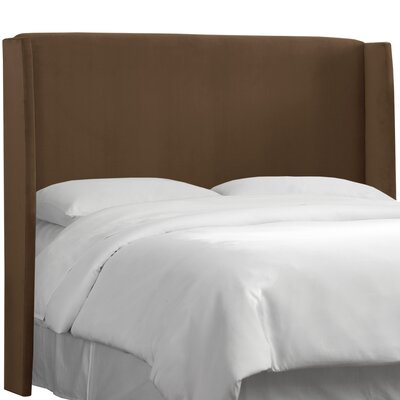 Wingback Upholstered Headboard Size: Full, Color: Chocolate