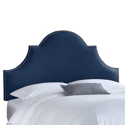 Skyline Furniture Linen High Arch Panel Headboard - Size: Queen, Color: Navy