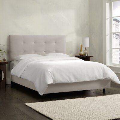Upholstered Panel Bed Size: Full, Upholstery: Velvet Light Grey