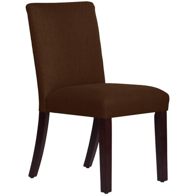 Upholstered Linen Uptown Side Chair Upholstery: Linen Chocolate