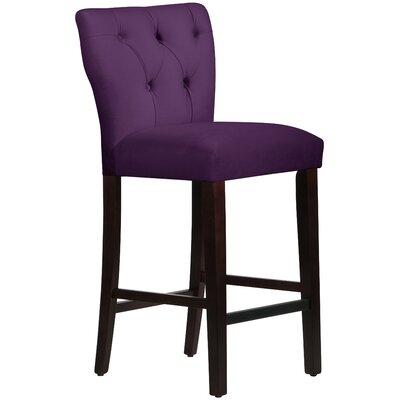 Evelina 31 Bar Stool Upholstery: Aubergine