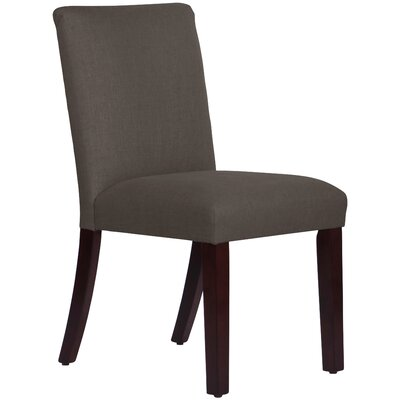 Upholstered Linen Uptown Side Chair Upholstery: Cindersmoke