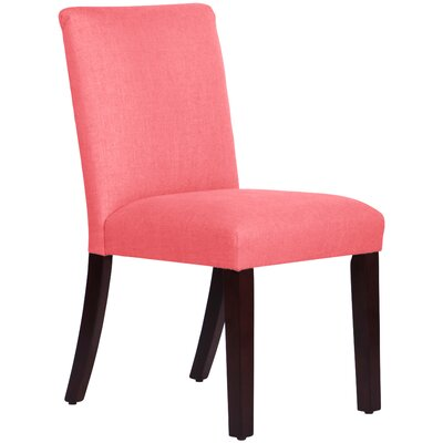 Upholstered Linen Uptown Side Chair Upholstery: Coral