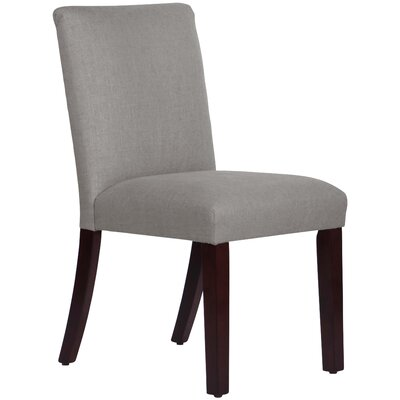 Upholstered Linen Uptown Side Chair Upholstery: Grey
