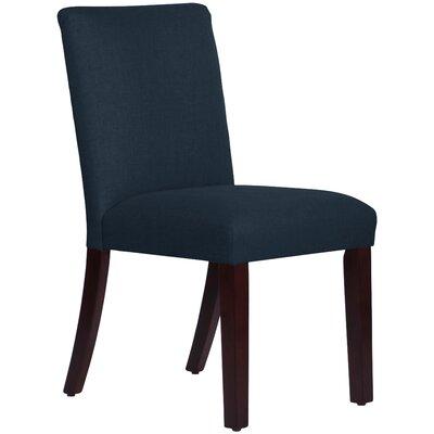Upholstered Linen Uptown Side Chair Upholstery: Navy