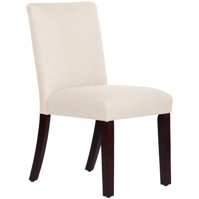 Upholstered Linen Uptown Side Chair Upholstery: Talc
