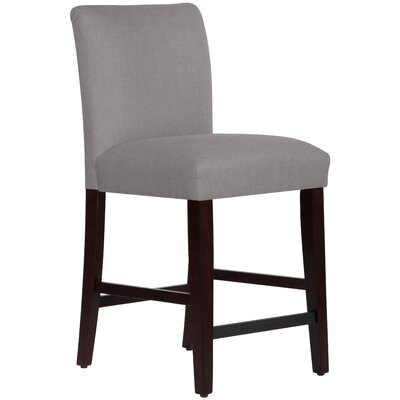 26 inch Bar Stool Upholstery: Grey