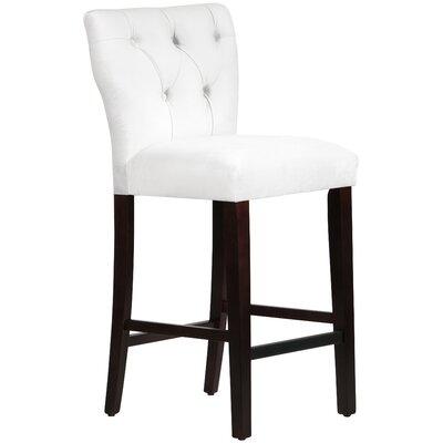 Evelina 31 Bar Stool Upholstery: White