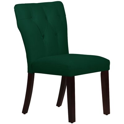 Evelina Side Chair Upholstery: Emerald