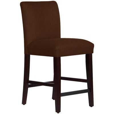26 inch Bar Stool Upholstery: Linen Chocolate
