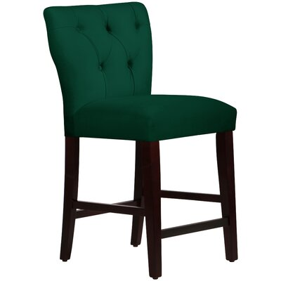 Evelina 26 Bar Stool Upholstery: Emerald