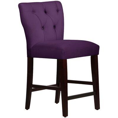 Evelina 26 Bar Stool Upholstery: Aubergine