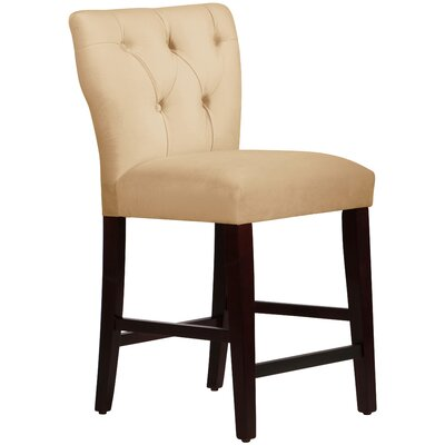 Evelina 26 Bar Stool Upholstery: Buckwheat