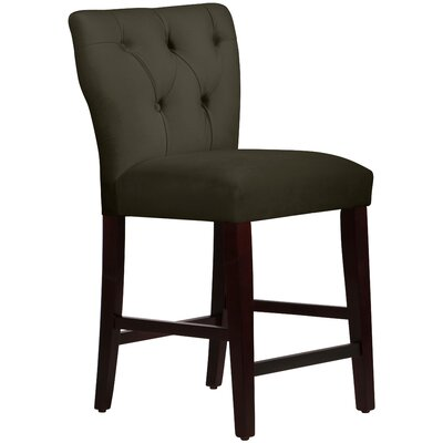 Evelina 26 Bar Stool Upholstery: Pewter