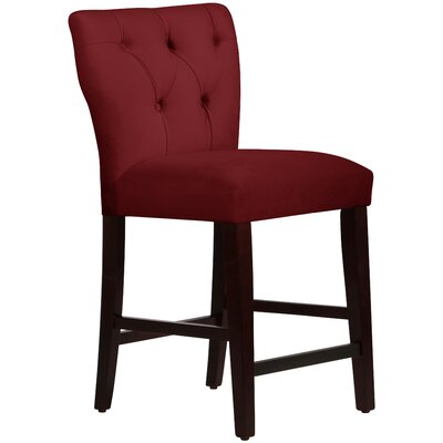 Evelina 26 Bar Stool Upholstery: Berry