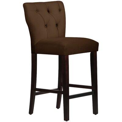 Evelina 31 Bar Stool Upholstery: Chocolate