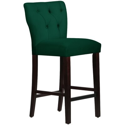 Evelina 31 Bar Stool Upholstery: Emerald