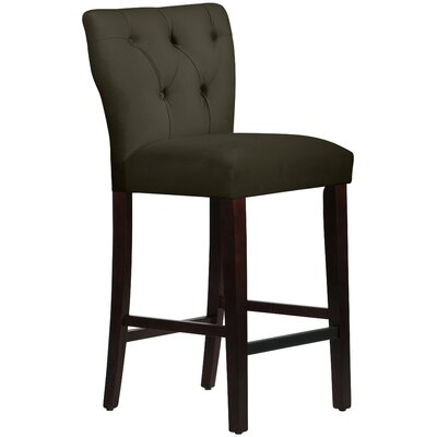 Evelina 31 Bar Stool Upholstery: Pewter