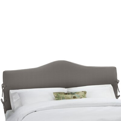 Slip Cover Upholstered Panel Headboard Size: Full, Upholstery: Black