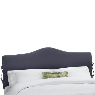 Slip Cover Upholstered Panel Headboard Size: Queen, Upholstery: Navy