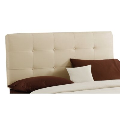 Double Button Tufted Upholstered Panel Headboard Size: Full, Finish: Oatmeal