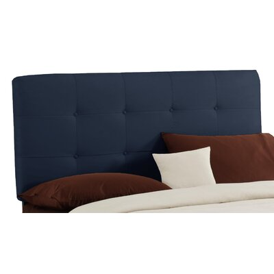 Double Button Tufted Upholstered Panel Headboard Size: King, Finish: Lazuli