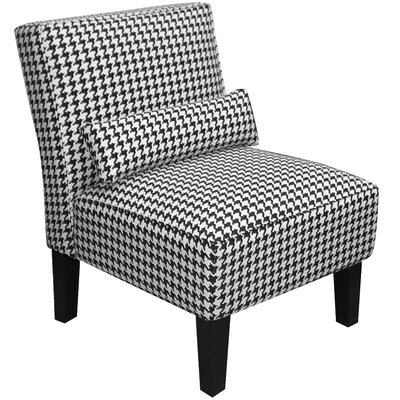 Fabric Slipper Chair Color: Florenza Black and White