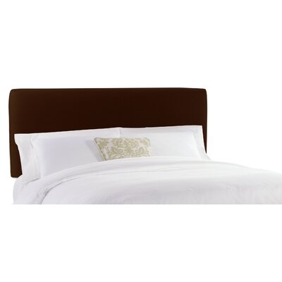 Slip Cover Upholstered Panel Headboard Finish: Linen Chocolate, Size: Full