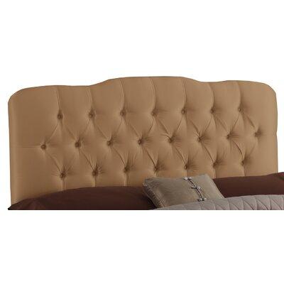 Skyline Furniture Tufted Shantung Arch Upholstered Headboard - Size: Twin, Finish: Khaki