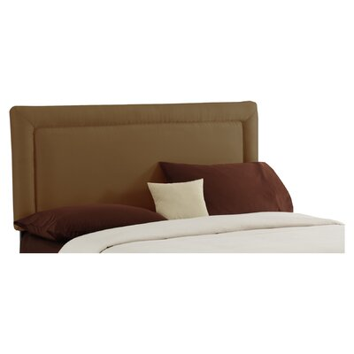 Border Upholstered Panel Headboard Size: King, Color: Khaki